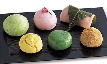旬の菓子揃い6個(各種1個) イメージ